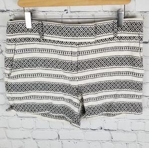 LOFT   stripe diamond pattern cotton knit shorts